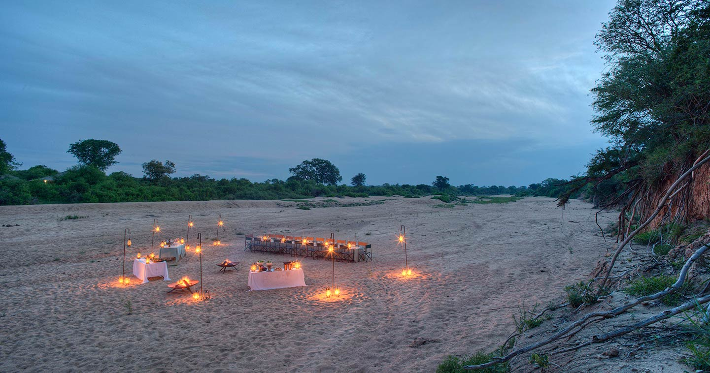 Enjoy the exellent food in Ngala Tented Camp near Kruger National Park