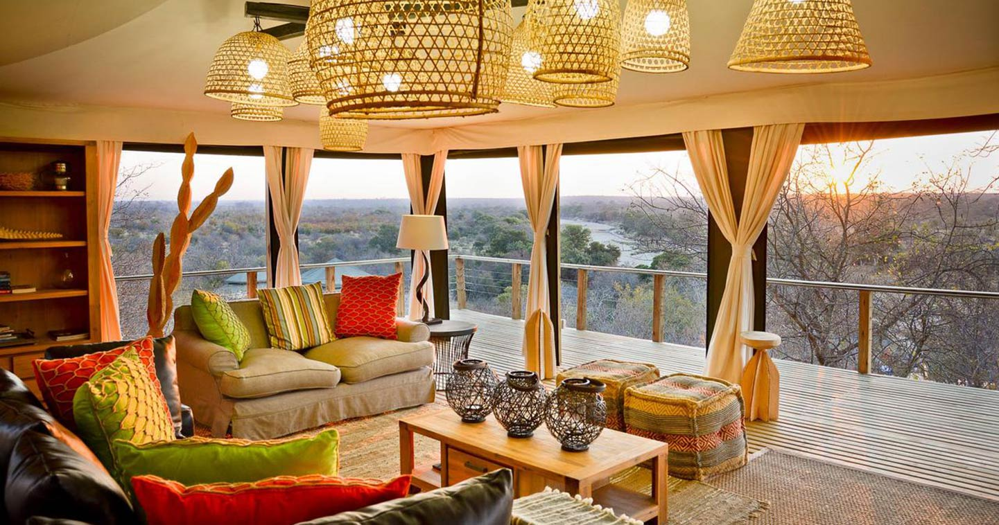 Lounge at Simbavati Hilltop Lodge in Timbavati Game Reserve