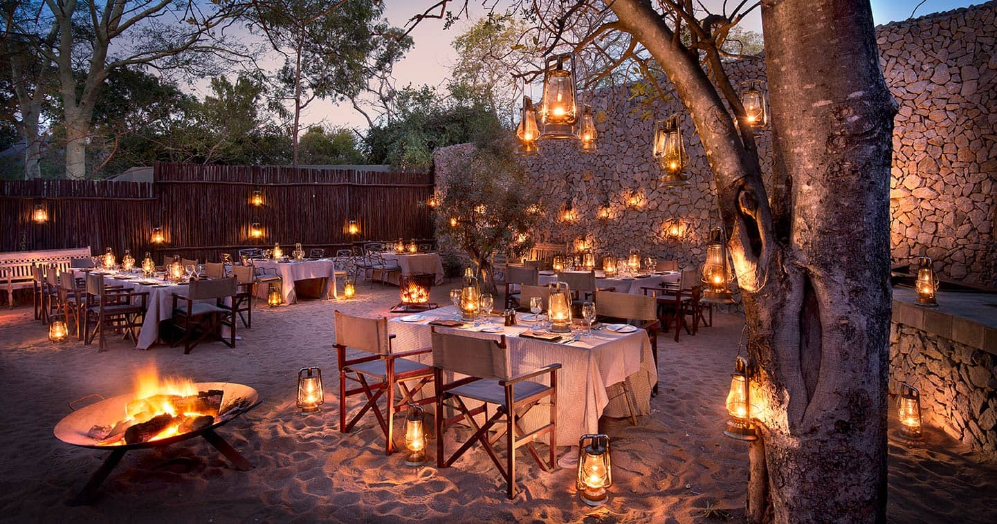 Dinner at Ngala Safari Lodge near Kruger National Park in South Africa