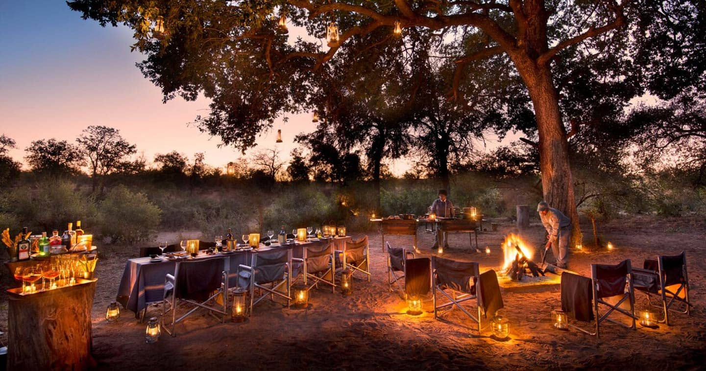Timbavati bush dinner at Rockfig Lodge