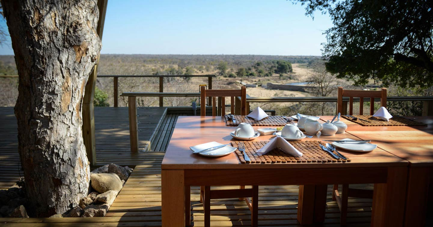 Excellent dinner at Simbavati Hilltop Lodge in Timbavati Private Game Reserve