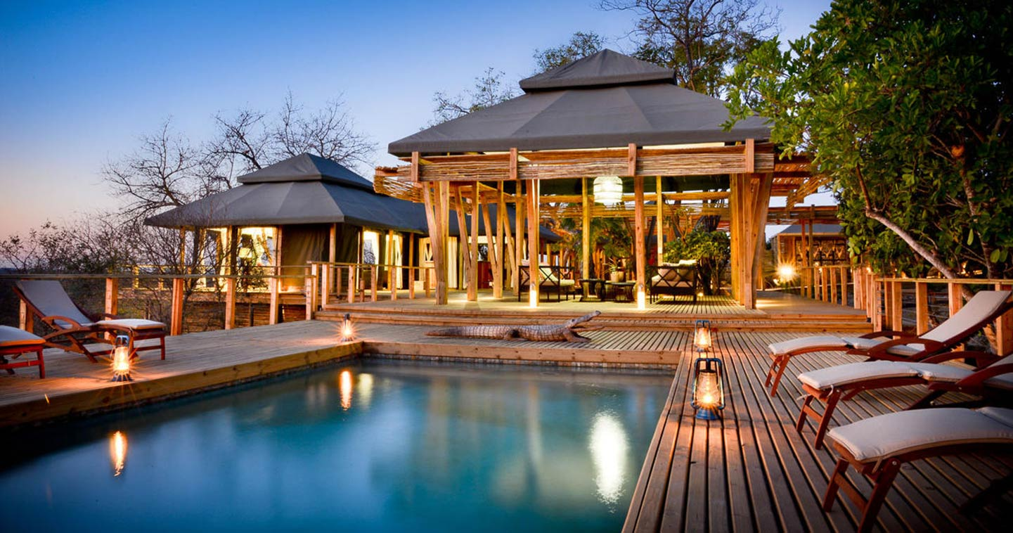 The pool at Simbavati Hilltop Lodge near Kruger National Park in South Africa
