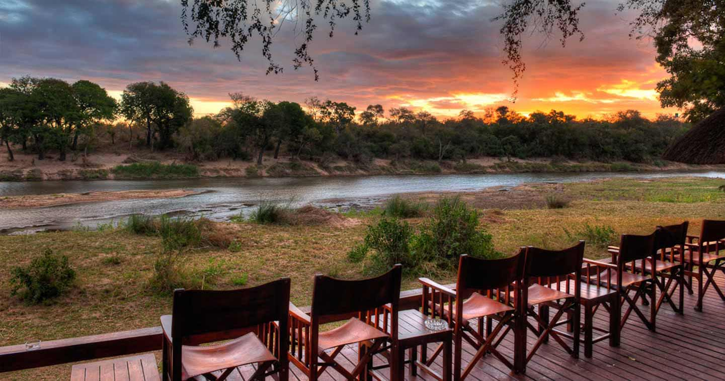 Enjoy the Sunset in Simbavati River Lodge in Timbavati Game Reserve